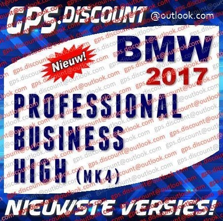 BMW 2017 Navigatie Update DVD's Professional, Business, High