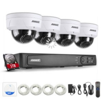 Cloud P2P - 3 Yrs Warranty - 4ch 1080P HD POE Security Camera Sys