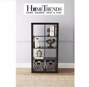NEW* HOMETRENDS HOLLOW CORE CUBE 2x4 ESPRESSO HOLLOW CORE CUBE DISPLAY SHELF HOME FURNITURE DECOR ACCENT  93600235
