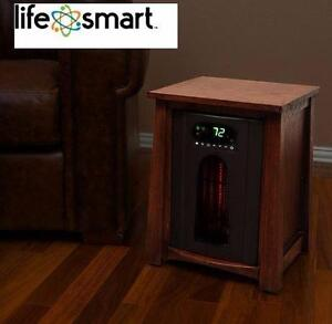 NEW LIFESMART INFRARED HEATER   1500W LIFELUX SERIES INFRARED HEATER-EXTRA LARGE ROOM - DARK OAK HOME HEATING 91920560