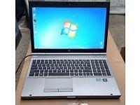 HP EliteBook 8570P laptop Intel 3.7ghz x 4 Core i7 3rd gen processor 320GB hd 8gb ram fully working