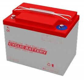 cyclic car battery microlyte red top 12vmrt35 Ah