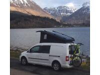 VW Caddu maxi campervan / work van. motorhome elevation pop top roof by Westdubs