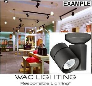 NEW LED MONOPOINT FLOOD LIGHT WAC TRACK LIGHTING - 2700k / 90cri Exterminator II Single Light 7 Inch Tall 99388771