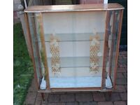 2 x Vintage Glass Display Cabinets