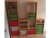 Ikea storage shelves x 4