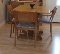 Moved - Selling Dining Room Table with Matching Chairs