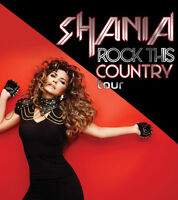 FOUR SHANIA TWAIN ULTIMATE VIP PACKAGES