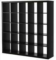 Ikea Expedit Shelving Unit (Black Brown)