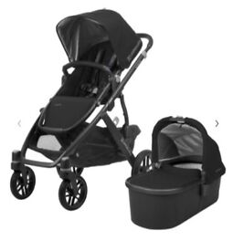 Uppababy Vista Pushchair and Carrycot (Jake), Travel Bag and Cot Stand - Excellent condition