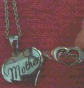 MOM  INSCRIPTED HEART SET