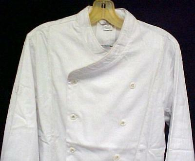 White Chef Coat 6X CIA Culinary Institute America Double Breasted New Style 9600