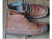 used el Naturalista leather tan size 8 boots