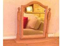 mirror real pine wood for dressing table bathroom
