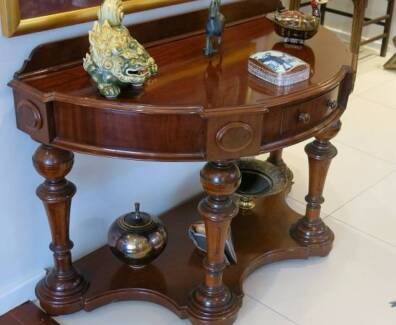 Antique Mahogany Demi Lune Table. Canberra Region  ACT   Antiques  Art   Collectables   Gumtree