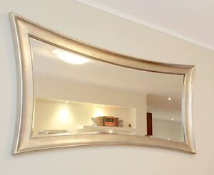 Wooden silver framed modern style mirror New Farm Brisbane North East Preview