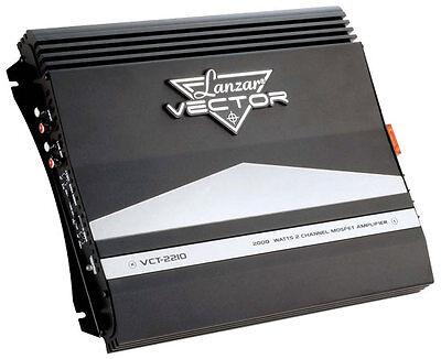 New Lanzar Vct2210 Car Amplifier 2000 Watt 2 Channel High Power Mosfet Amplifier