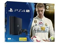 500GB Playstation 4 console with fifa 18