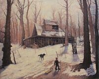 """"""" Cabane A Sucre #2 """" oil painting on canvas"""