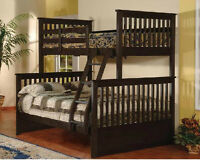 ★LORD SELKIRK FURN★T/D BUNK BED $375.*★ESPRESSO OR WHITE