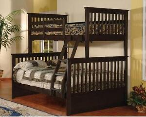 LORD SELKIRK FURNITURE - PALOMA T/D BUNK BED $349. *24 SLATS / BUNK - ESPRESSO