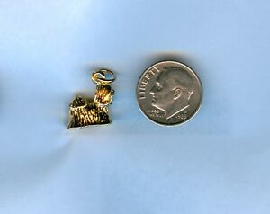 24kt. Gold Plated 3D Dog Shih Tzu Charm
