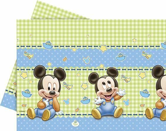 Disney+Baby+Mickey+Plastic+table+cover+%28120+x+180cm%29
