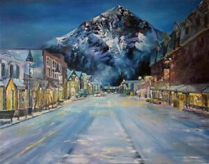 "51""x 63"" Original Oil Painting ""Banff"""