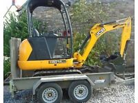 Mini Digger Services / Groundworks/piling specialists call Jamie 07956055636