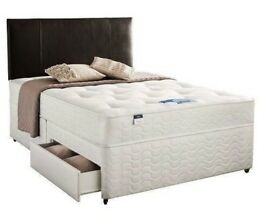 BRAND NEW SINGLE SMALL/DOUBLE KINGSIZE DIVAN BED BASE WITH MATTRESSES OPTIONAL DRAWERS & HEADBOARD