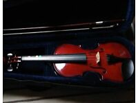 Violin half size with bow and case