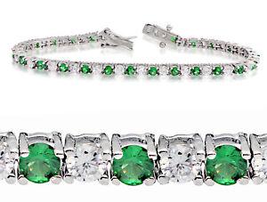 5-00-ct-Brilliant-Round-Cut-CZ-Your-Choice-of-Colors-Tennis-Bracelet