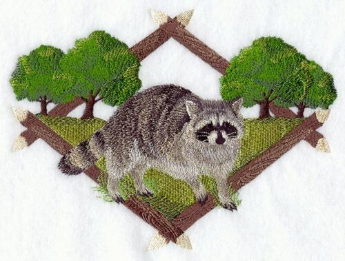 Embroidered Sweatshirt - Raccoon Diamond Portrait A5042