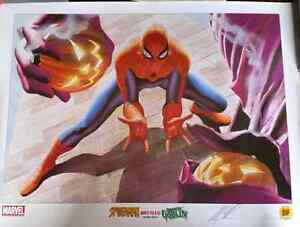 Spider-Man lithograph. Limited edition signed by Alex Ross!