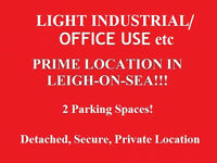 Property suitable for LIGHT INDUSTRIAL USE, Prime Location Leigh on sea, 2 parking spaces