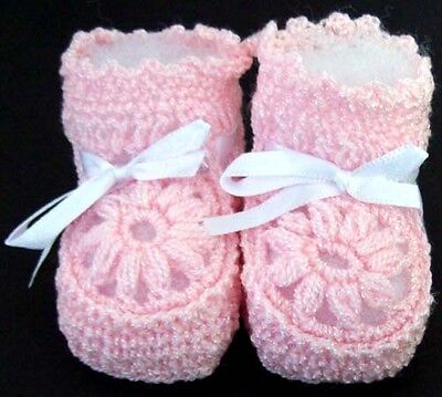 Baby Goods  Baby Knitted Booties Newborn Size - Pink Color  12 Pairs (E00215P)