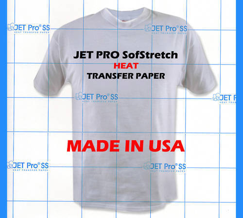 Inkjet Transfer For White Fabric: Iron-on Jet Pro Soft Stretch 8.5x11 :)