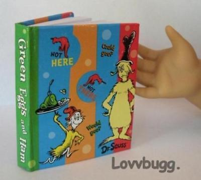 Mini Dr. Seuss Green Eggs n Ham Book for American Girl or Wellie Doll Accessory (Dr Seuss Accessories)