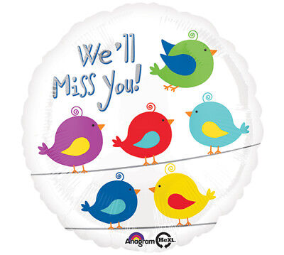 18-Inch We Will Miss You With Birds Balloon