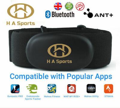 Dual Band ANT+ Bluetooth Zwift/Wahoo/Kiox/Revoola/Concept2 HRM Sensor + Strap UK