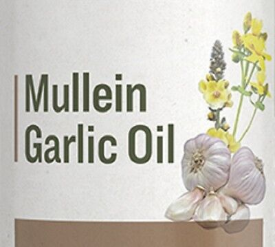 MULLEIN GARLIC OIL - Gentle Herbal Ear Drop Formula for Aches & Infections USA Garlic Oil Ear Infections