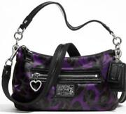 Purple Silver Coach Purse