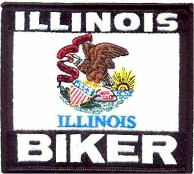 Illinois Singlet - ILLINOIS Biker US STATE Flag Embroidered MC Club Motorcycle Vest Patch PAT-0933