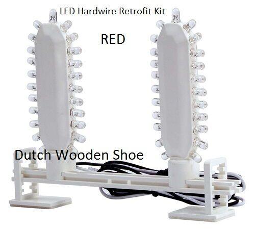 set of 3 LED Hardwire Retrofit Kit  Bracket,for RED EXIT Signs ,120/277 Volt