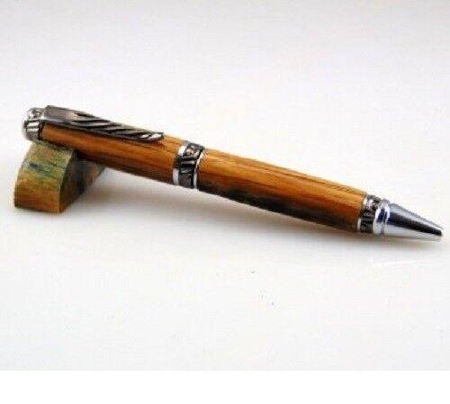 5 Pack Gun Metal & Chrome Accents Ultra Cigar Pen Woodturning Kits w/bushings