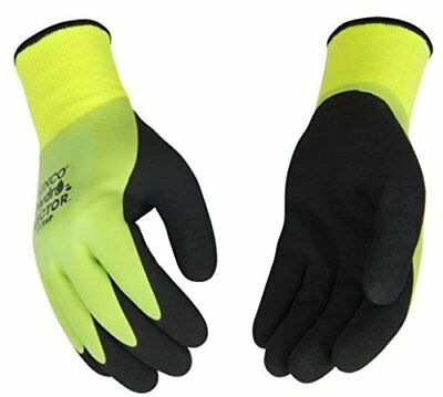 Kinco 1786p Mens Waterproof Thermal Latex Gloves Green Warm Winter Soft Lining