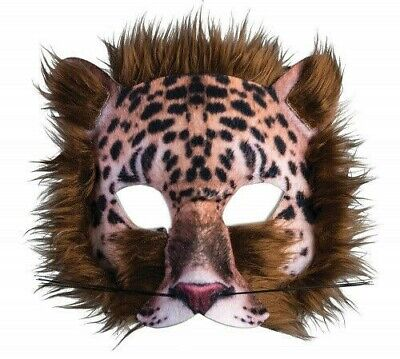 Adult Animal Mask (Leopard Mask Adult Womens Cat Kitty Furry Animal Cosplay Half)