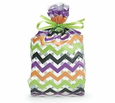 Small HALLOWEEN Chevron Striped 7x2x3