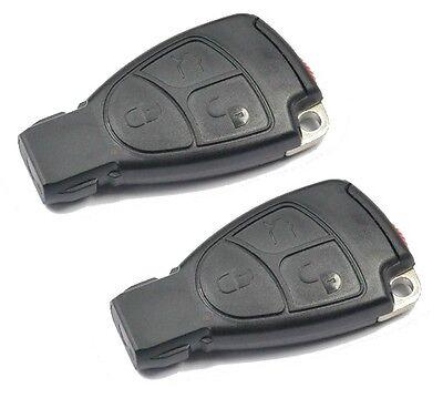 2x Ersatz Schlüssel Autoschlüssel mit 3 Tasten NEU SET  für Mercedes Benz MB #17