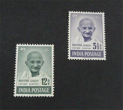nystamps British India Stamp # 204, 205 Mint OG H $39   L30x3228